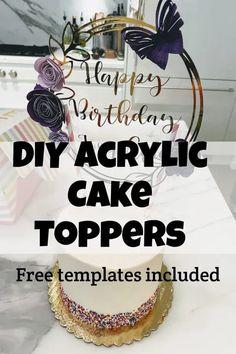 acrylic cake topper cutting machine can cricut maker cut acrylic Shrink Film, Acrylic Keychains, Acrylic Cake Topper, Acrylic Spray, Paper Flower Tutorial, Card Making Tutorials, Plastic Sheets, Shaker Cards, Birthday Diy