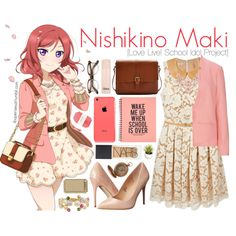 Nishikino Maki [Love Live! School Idol Project] by anggieputeri on Polyvore