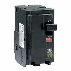 Square D by Schneider Electric HOM115DFC Homeline 15-Amp Single-Pole Dual Function Circuit Breaker 1-Inch Format