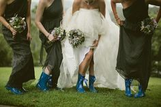 Gumboots for frolicking in feilds.. Whimsical Lavender And Green Wedding