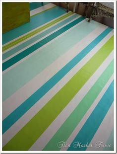"Nice idea for a painted ""rug"""
