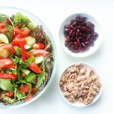"""""""Salad with tuna and kidney beans"""""""