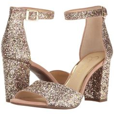Jessica Simpson Sherron 2 (Champagne Multi Chucky Glitter) Women's... (295 PLN) ❤ liked on Polyvore featuring shoes, wrap shoes, special occasion shoes, off white shoes, holiday shoes and synthetic shoes