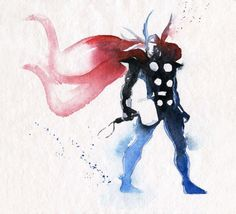 Belas ilustracoes super-herois aquarela (2)