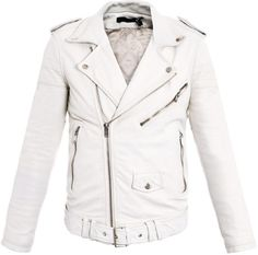 $958 BLK Leather Biker Jacket - Lyst