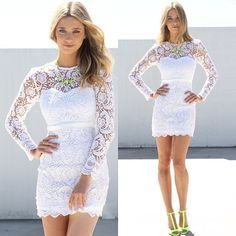 Pops of Neon & Lace