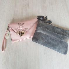 Clayre & Eef roze clutch & schoudertas