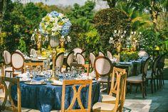 Decoração de casamento | Azul e Amarelo