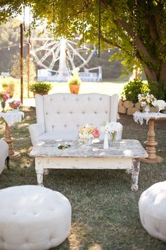 Malibu Wedding with Katie Vowels for Annie McElwain, Green Ribbon Party Planning Co, and Found Vintage Rentals Unique Wedding Venues, Whimsical Wedding, Unique Weddings, Wedding Ideas, Summer Weddings, Boho Wedding, Wedding Flowers, Wedding Furniture, Lounge Furniture