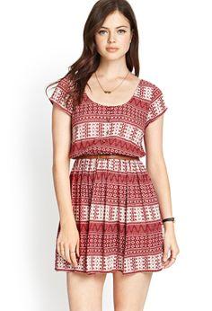 Buttoned Tribal Print Dress | FOREVER21 #SummerForever