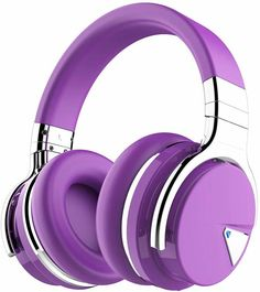 COWIN Active Noise Cancelling Bluetooth Headphones with Microphone Deep Bass Wireless Headphones Over Ear, Comfortable Protein Earpads, Playtime for Travel Work TV Computer Phone - Purple Headphones With Microphone, Best Headphones, Headphone With Mic, Over Ear Headphones, Noise Cancelling Headphones, Bluetooth Headphones, Best Makeup Tutorials, Best Makeup Products, Piano