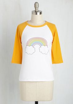 Esteem Player Top. Hip, hip, hooray - a top to match your colorful personality! #yellow #modcloth