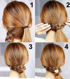 For long hair: Hairstyle that looks difficult but is actually quite simple to acheive