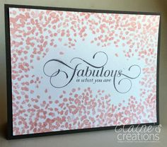 Stampin' Up! Sheltering Tree + One in a Million Elaine's Creations