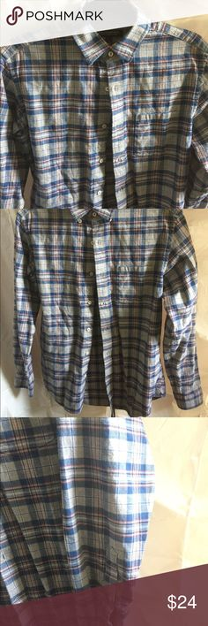BR Luxe Slim Fit Plaid Flannel Button Down In excellent condition. Banana Republic Shirts