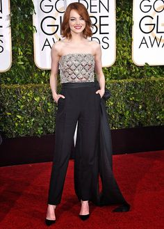 Who's your celebrity style crush? I'm loving Emma Stone's Golden Globes look here, plus that haircut is fantastic!