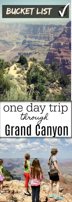 goodbyeworkweek.com | Definitely a Bucket List Destination | The Grand Canyon is just one of those places that everyone should see at some point in their life. Cool Places To Visit, Places To Travel, Places To Go, One Day Trip, Day Trips, Bucket List Destinations, Travel Destinations, Grand Canyon National Park, National Parks