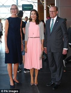 Occasion:During their meeting, the Australian-born Royal presented the Crown Princess Mary with a Carlsberg beer