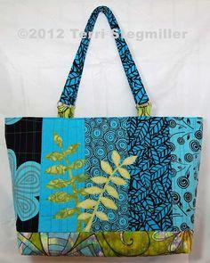 Terri Stegmiller Art Quilts: Leaf Motif Handbag