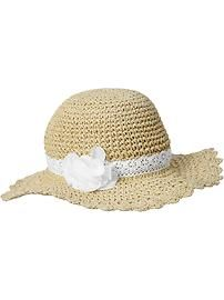 Straw Rosette Sun Hats for Baby, with the matching espadrilles!!!