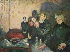 Death struggle.  Edvard Munch. Galería Nacional de Dinamarca