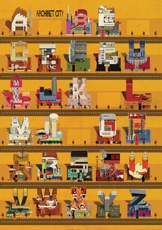Federico Babina's Archibet is an illustrated alphabet of architects