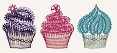 N268 - 3 Cupcakes freigestellt