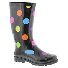 Sugar Womens Raffle Rain Boot Blackmulti dot 9 M US * More info could be found at the image url.