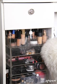 Dresser Details! How I store my Makeup - Style Scoop - Daily Fashion, Beauty and LifeStyle Blog  #stylescoop