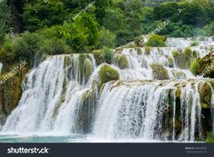 Krka National Park – Nature landscape of waterfall cascade in Croatia. Croatia National Park, Krka National Park, National Parks, Free Photos, Great Places, Stock Photos, Landscape, Water, Face Products