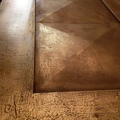 Aged pitted bronze liquid metal hand applied by Stuart Fox Ltd. Front Doors to Villa Liquid Metal, Wall Finishes, Metal Projects, Detail Art, Work Inspiration, Diy Painting, Textures Patterns, Painted Furniture, Diy And Crafts