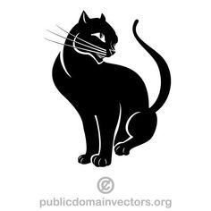 Cat vector graphics | Public domain vectors