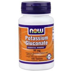 Now Foods Potassium Gluconate 99 Mg 100 Tablets - Bone Health - Shop by Health Condition - Vitamins, Minerals, Herbs & More