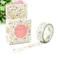 JA304  Colorful Season of Flowers Decorative Washi Tape DIY Scrapbooking Masking Tape School Office Supply Escolar Papelaria