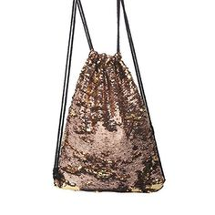 New Trending Luggage: Tinksky Fashion Glitter Bag Sackpack Sequins Drawstring Backpack (Gold). Tinksky Fashion Glitter Bag Sackpack Sequins Drawstring Backpack (Gold)  Special Offer: $8.99  166 Reviews DescriptionWhether for a walk through the park or in the woods, this drawstring bag is just right for it. For keys, money, mobile phone and small items are stowed away and your...