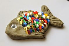 Kids Creative Chaos: Rainbow Fish Theme Sensory Fishing Activity and Craft for Preschoolers