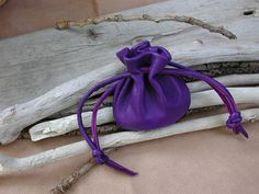 Pouch Bag Made From Beautiful Purple Leather by Shirlbcreationstoo, $16.00