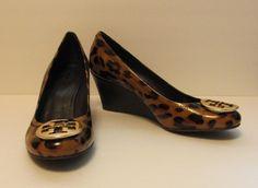 Tory burch Sally patent leopard print