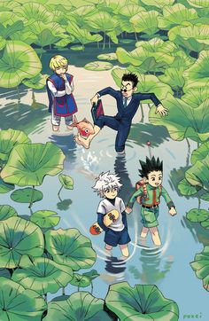 The show features the protagonist Gon, on a mission to train himself as a hunter. He reunites with his father, who is alive and an accomplished hunter too. #Killua #Gon #Kurapika #Leorio #Hunter #HunterxHunter #Killua