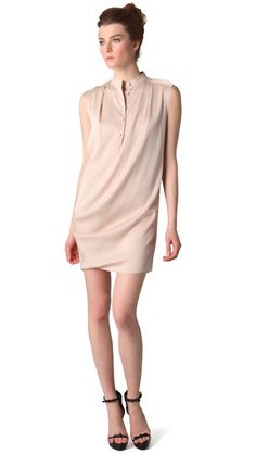 3.1 Phillip Lim Draped Front Sleeveless Dress, -so nice and simple