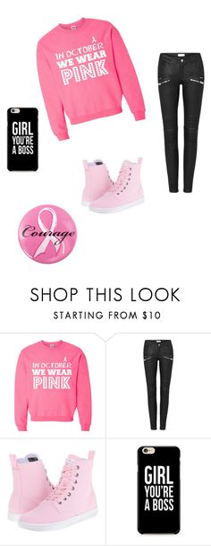 """""""cancer sucks"""" by athena420 ❤ liked on Polyvore featuring Dr. Martens and Ashley Stewart"""