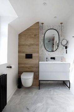 Ensuite bathroom renovation of dreams! This tiny bathroom (around was tran… Ensuite bathroom renovation of dreams! This tiny bathroom