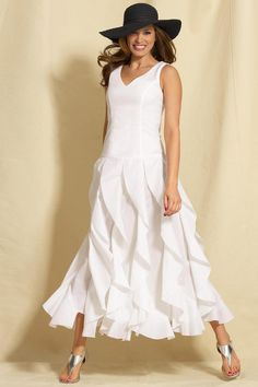 """I like to wear maxi dresses. I am 5' 9"""" tall so I can wear them without any problems."""