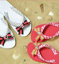 Offray® Ribbon Flip Flops DIY Tech Do It Yourself upcycle recycle how to craft crafts instructable gadgets fashion Ribbon Flip Flops, Flip Flop Shoes, Sewing Crafts, Diy Crafts, Arts And Crafts, Flip Flop Craft, Decorating Flip Flops, Diy Tech, Do It Yourself Fashion