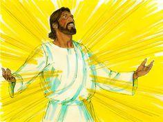 Jesus is transfigured :: Peter, James and John witness Jesus being transfigured (Matthew Mark Luke Free Bible Images, Bible Pictures, Jesus Is Risen, Jesus Loves Me, Transfiguration Of Jesus, Meditation Images, Luke 9, Matthew 17, Face Change