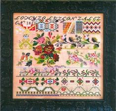 Leeds House Sampler Cross Stitch Chart and Free Embellishment