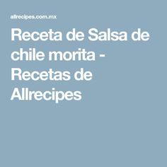 Receta de Salsa de chile morita - Recetas de Allrecipes