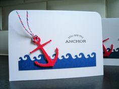 I Love You Card Friendship Card You Are My Anchor by apaperaffaire