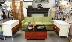 We have lots of different styles of furniture in the store here is a example of some of our modern pieces.  Prices: Sofa Ethan Allen $198.00 Chests $198.00 each Coffee table $45.00 Screen $198.00 http://www.theguildshop.org/modern-furniture-collection
