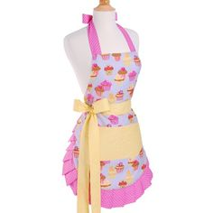 The Frosted Cupcake apron is inspired by a baker's dream. The cupcake theme makes this apron fun for bakers of all ages. Neat pleats along the edge and cute girlie colors give this apron a flirty look as the long thick ties create a perfect fit. Flirty Aprons, Cute Aprons, Work Aprons, Cupcake Gift, Cupcake Frosting, Cupcake Birthday, Sewing Aprons, Cute Cupcakes, Cupcakes Design